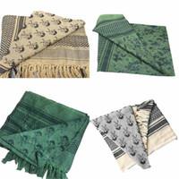 Wholesale arab military scarf for sale - Group buy Arafat arab scarf shawl Keffiyeh Kafiya Lightweight Military Shemagh palestine Man Stripe Scarf With Tassels Soft Warm