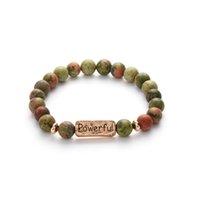 zubehör armbänder großhandel-Naturstein Perlen Inspirational Armband für Frauen Armreif Manschette Armreifen Chakra Armbänder Geschenke Mode-accessoires Schmuck
