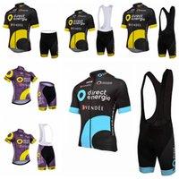 vêtements sportifs directs achat en gros de-2019 hommes Summmer Direct Energie Maillots de vélo de vélo de montagne maillot ciclismo respirant séchage rapide racing costumes costumes de sport A2428