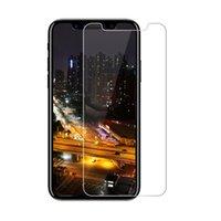 xperia m4 venda por atacado-Protetor de tela de vidro temperado para iphone x 6 s além de sony xa1 ultra xa ultra z5 m4 m5 com caixa de papel de varejo