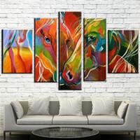 ingrosso tela di olio di zebra-Fatto a mano pittura a olio su tela colorata zebra arte pittura moderna pop tela wall art soggiorno decorazione cavallo immagine