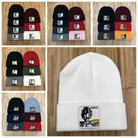 Wholesale knitted cartoon hats resale online - NEW Winter Unisex Caps Men Fashion Knitted hat Classical Sports Skull Caps Casual Outdoor Cartoon Anime Knit Hat Embroidery Beanies ZZA840