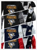 camisola encapuçado venda por atacado-2019 inverno hoody pittsburgh pinguins equipe logotipo impresso Homens mulheres Engrossar Hoodies outono cashmere roupas camisolas Zipper jaquetas com capuz