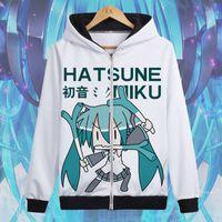 Anime Hatsune Miku Hoodies Cotton Hoodie Zipper Winter Autumn Sweatshirt Jacket