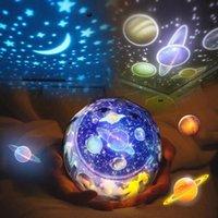 projecteurs de nuit pour bébés achat en gros de-Lumière de nuit LED ciel étoilé magique étoile lune planète projecteur lampe cosmos univers luminaria bébé pépinière lumière pour cadeau d'anniversaire