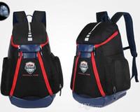 сумка pack путешествие водонепроницаемый оптовых-Баскетбольные рюкзаки New Olympic USA Team Packs Рюкзак Мужские сумки Большой емкости Водонепроницаемые тренировочные дорожные сумки Обувь Сумки Free Ship