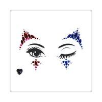 Wholesale rhinestone eyebrows for sale - Group buy Fashion Flash Bling Jewelry for Female Girl Face Gems Sticker Party Eyebrow Body Makeup Crystal Dimond Rhinestone Temporary Tattoos Adhesive