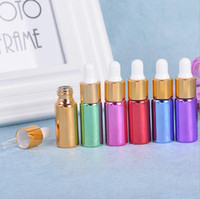 Wholesale mini drop bottles for sale - Group buy 300pcs fashion ML Mini Cute Portable Glass Oil Perfume Bottle With Drop Empty Perfume Case Colorful new