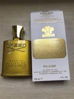 ingrosso vendite di profumo-In magazzino vendita calda dorata Edition Creed Millesime Imperial profumo di alta qualità di fragranza per trasporto uomini 120ML Perfetto Profumo libero
