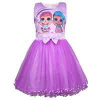 yeni butik bebek kıyafeti toptan satış-Sürpriz Kızlar Elbiseler Bebek Kız Giysi Tasarımcısı Çocuklar Butik Prenses Elbise Yaz Tül Yay Balo Çocuk Giyim Yeni C3155