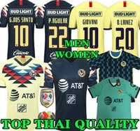 camiseta de fútbol de alta calidad tailandesa al por mayor-Top de calidad tailandesa 19 20 camiseta de fútbol de América amarillo casa 2019 2020 de distancia tercer club de México tercera camiseta de fútbol P.AGUILAR O.PERALTA MATHEUS