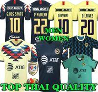 camiseta de fútbol tailandesa superior al por mayor-Top de calidad tailandesa 19 20 camiseta de fútbol de América amarillo casa 2019 2020 de distancia tercer club de México tercera camiseta de fútbol P.AGUILAR O.PERALTA MATHEUS