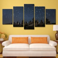 Wholesale buddha paintings living room resale online - HD Printed Piece Canvas Art Buddha Painting Starry Sky Wall Pictures for Living Room Home Decor