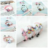 Wholesale kids girls bracelets resale online - Unicorn Knitting Bracelet Syles Kids Animals Accessories Baby Girl Cute Jewelry Pendant Chain Gift For Children RRA2263