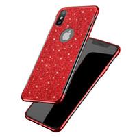 bling couvre pour les téléphones cellulaires achat en gros de-Nouvelle poudre de scintillement TPU téléphone portable housse pour iphone xs max xr x 6s 7 8 plus bling bling brillant galvanoplastie plaqué étui souple