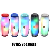 Wholesale music box flash player for sale - Group buy New TG165 Bluetooth Speaker LED Flash Portable Audio Player Stereo Sound HIFI Subwoofer Deep Bass Speaker mAh Music Box