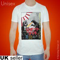 ingrosso giocattolo robot bianco nero-Maglietta originale Tokyo Maglietta Robot Tin Maglietta Godzilla Top Fashion Toy giapponese bianco nero grigio rosso pantaloni tshirt