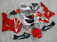 ingrosso cestini cbr929rr-Le nuove carenature del motociclo di stampo ad iniezione ABS misura per HONDA CBR 929RR 929 2000 2001 CBR929RR 00 01 CBR 900RR kit carenatura rosso bianco personalizzato
