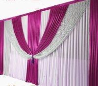 cortinas decorativas do pano de fundo venda por atacado-3x6m (10ftX20ft) do casamento do ouro Backdrops Cortina de Sequins de prata do casamento do fundo da cena Silk Ice decorativa Cortina Decoations casamento
