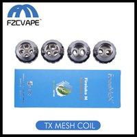 ingrosso kit da tè-Autentica Freemax TX Mesh Coil Fireluke M fibra Tea Cotone TX1 TX2 TX3 TX4 TNX2 Core for Fireluke 2 kit serbatoio Twister 80W