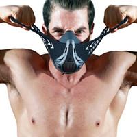 correr equipo al por mayor-Máscara FDBRO Deportes Fitness Workout Ejecución de Resistencia Resistencia Cardio máscara para el entrenamiento de la aptitud del deporte al aire libre Máscara Equipo gimnasio Con