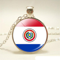 Wholesale boys necklace pendants for sale - Group buy New Russia National Flag World Time Gem Glass Cabochon Choker Necklace Long Link Sweater Chain Pendants Jewelry for Women Men Girls Boy