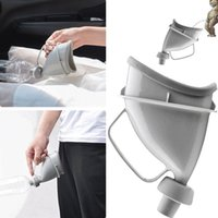 Wholesale portable car urinal resale online - Unisex Portable Car Handle Urine Bottle Urinal Funnel Tube Urination Device Tool