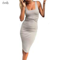 enge kleider party sommer großhandel-Büro-Kleid Sexy Kleider Sommer-Damen Sleeveless feste Bodycon-Kleid-Frauen-Partei-Kleid Robe Femme Clubwear Gv575 Designerkleidung