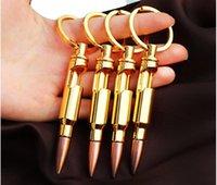 ingrosso apribottiglie chiave-Forma di guscio di proiettile Apribottiglie Birra Soda Creativo Portachiavi Portachiavi Bar Strumento Regalo di affari del partito