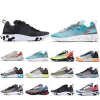 Wholesale new styles shoes for men for sale - Group buy New Style React Element running shoes for men women Sail Royal Tint Anthracite VOLT RACER PINK Mens Trainer sports sneakers