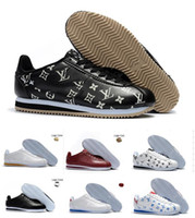 sale retailer 0ddf2 0b6a5 Clásico Cortez Básico de Cuero Zapatos Casuales Barato Moda Hombres Mujeres  Negro Blanco Rojo Dorado Zapatillas de Skate Tamaño 36-44
