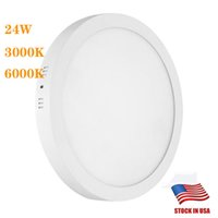 Wholesale suspended ceiling led lights resale online - 18W W Round Led Surface Mounted Panel Light Led Downlight lighting Flush Mount Ceiling Light Surface Mounted LED Kitchen Ceiling Light Fix