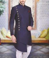 resmi çocuk paltosu toptan satış-Arapça Erkekler Suits Yaka Geri Vent Balo Biçimsel İş Smokin Blazer Ceket erkekler sadece biri Coat Slim Fit Mens Düğün Suits Standı
