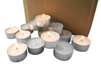 Wholesale unscented candles for sale - Group buy Long Burning Tealight Candles to Hour Extended Burn Time Bulk Candles Pack White Unscented Tealight Candles