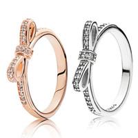 anello fiocco pandora rosa