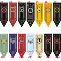 bandeiras bandeiras ao ar livre venda por atacado-Game of Thrones Casa Stark Tournament Bandeira Bandeira 45 * 150 cm 14 Estilos Ao Ar Livre Bandeiras Decorações Do Jardim Atividades Ao Ar Livre