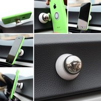 soporte giratorio del coche al por mayor-2 colores Universal Magnetic Car Mount Holder 360 Multifunción Rotary Phone Magic Car Dash Holder Magic Stand Mount FFA119 50PCS