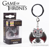 Wholesale keychain marvel for sale - Group buy Funko POP Marvel Super Hero Action Figure keychain Deadpool Harry Potter Goku Spiderman Joker Game of Thrones Figurines Toy Keychains