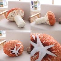 ingrosso grande peluche di funghi-3D Big Mushroom Head Toy lavabile creativo peluche cuscino di Natale regalo fai da te facile da pulire bella vendita calda 6 5ad I1
