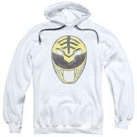 hoodie branco da guarda florestal venda por atacado-Hoodie adulto licenciado do pulôver branco da máscara da guarda florestal de Power Rangers