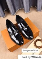 Wholesale designer patent leather boots for sale - Group buy Patent Leather Business Guan Men Dress Shoes Boots Loafers Drivers Buckles Sneakers Sandals