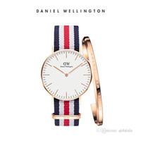 moda senhora relógios porcelana venda por atacado-China Assista Fabricante Personalizado Marca relógio de pulso simples e moda Instituto Estilo da senhora 36mm Assista DW Pulseira Terno