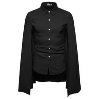 mann capes groihandel-2019 New Foreign Trade Herren Casual Fashion Persönlichkeit maßgeschneiderte Cape Square Kragen Row Button Langarm-Shirt