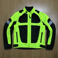 Wholesale nylon racing motorcycle jacket resale online - Motorcycle Jackets Men moto GP motocross motorbike Racing Jacket Riding Jersey summer breathable Reflective clothing Black Green
