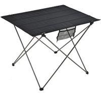 taşınabilir alüminyum masa toptan satış-Taşınabilir Katlanabilir Masa Kamp Açık Mobilya Bilgisayar Yatak Masaları Piknik 6061 Alüminyum Alaşım Ultra Hafif Katlanır Masa