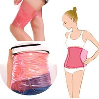 Wholesale wrap sauna slimming leg resale online - Women Slimming Waist Belt Body Shaper Wrap Thigh Calf Arm Leg Belly Lose Weight SHAPE UP Sauna Plastic Nontoxic Slimming Belt A42301