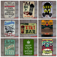 Wholesale home decor bathroom for sale - Group buy Retro Metal Tin Sign Kitchen Bathroom Family Romantic Poetry Metal Painting Bar Pub Cafe Home Restaurant Decor Vintage Tin Signs DBC DH2592