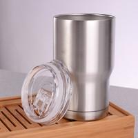 isolierung für autos großhandel-Edelstahl Tumbler 14OZ doppelwandige Isolierung Vakuum Wasser Kaffeetassen Hause im Freien Autotassen mit Deckel