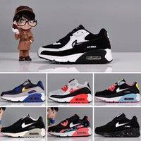 bebek korsanı toptan satış-Nike air max 90 Spor Ayakkabı Korsan Siyah klasik 90 Sneakers Running 2018 Bebek Erkek Bebek Kız Çocuk Gençlik Çocuk ayakkabıları 28-35 eur