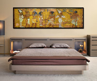 Wholesale egyptian oil paintings resale online - 1 Panel Retro Egypt Queen Cleopatra Poster Canvas HD Prints Oil Painting Ancient Egyptian Picture Mural Room Wall Art Bedside Home No Frame